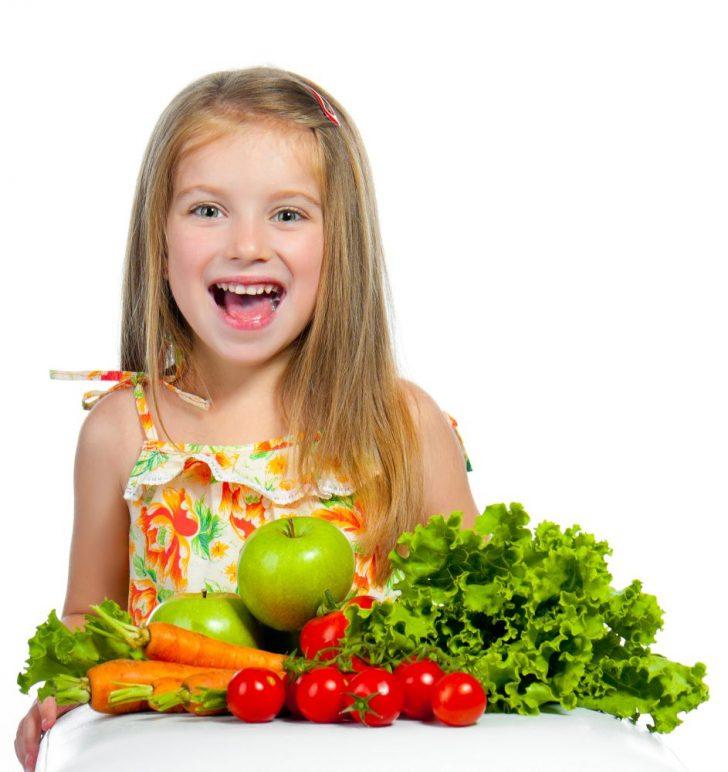 Детская диета - фрукты и овощи