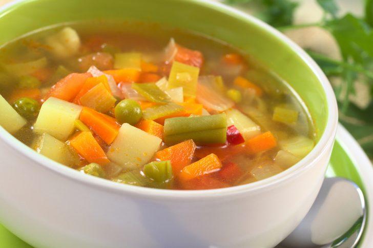 как приготовить овощной суп диета