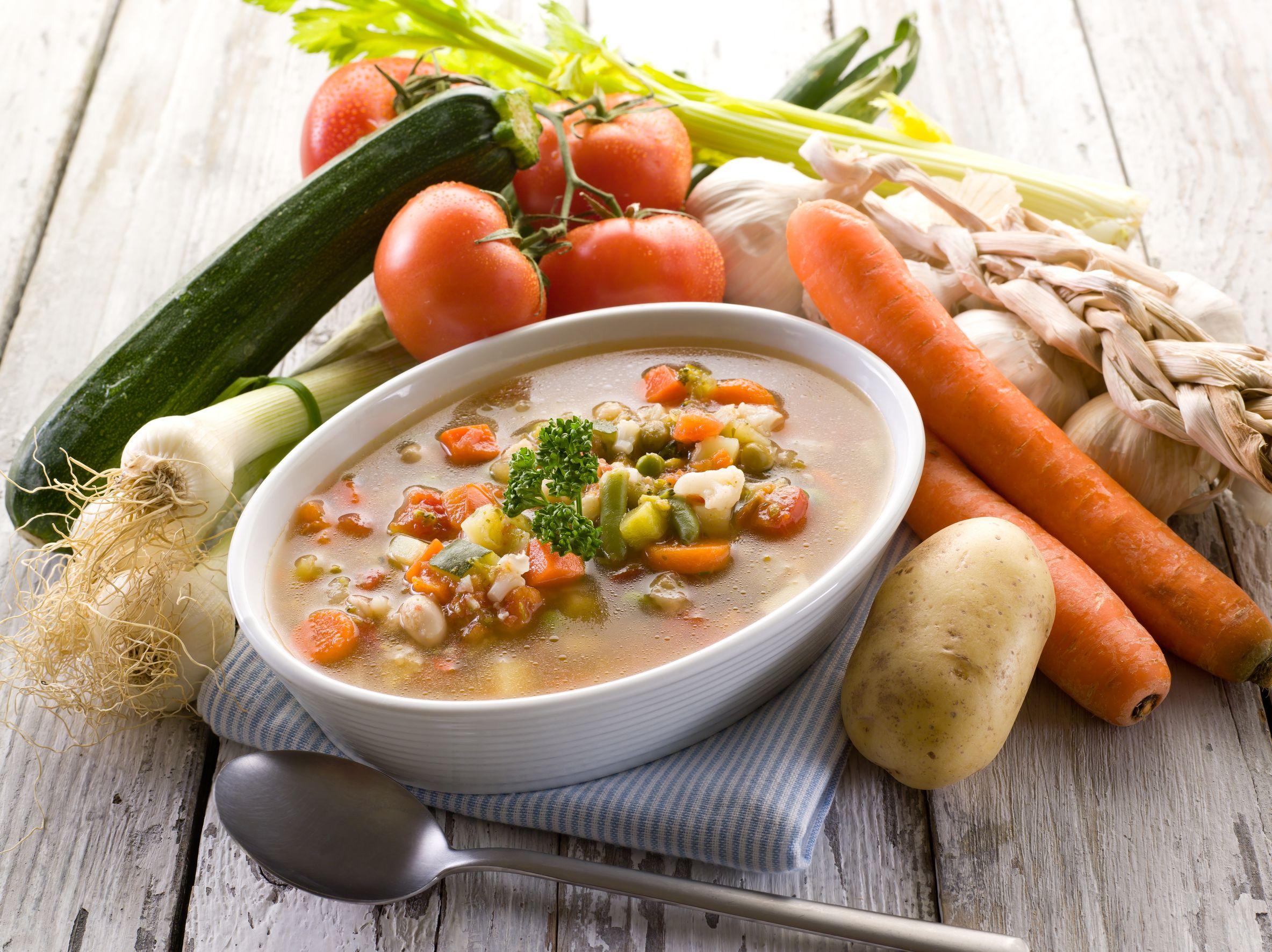 Принцип приготовления супа из овощей