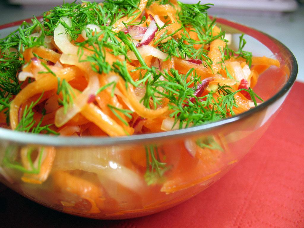 постный овощной салат - японская диета