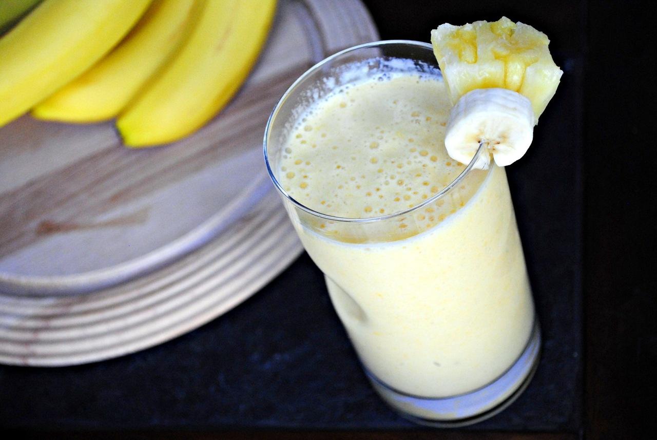 Молоко и банан коктейль для похудения