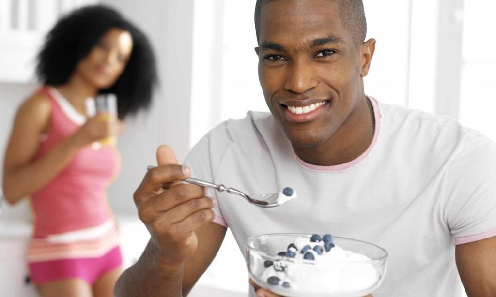 Примерный вариант завтрака для мужской диеты