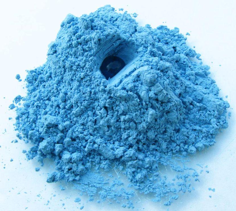фото глина голубая