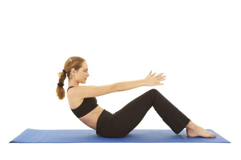похудение живота упражнение