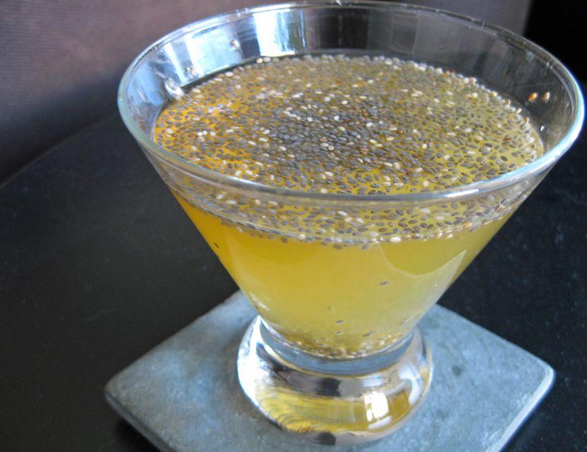 Апельсиновый коктейль с семенами чиа