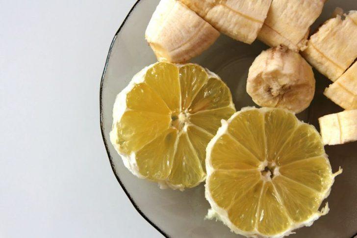 маска из банана и лимона