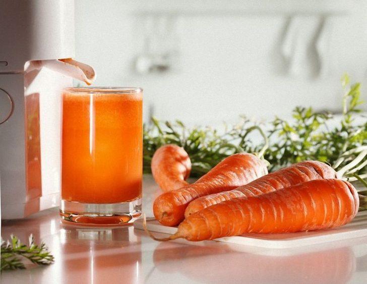 Сок моркови для лица