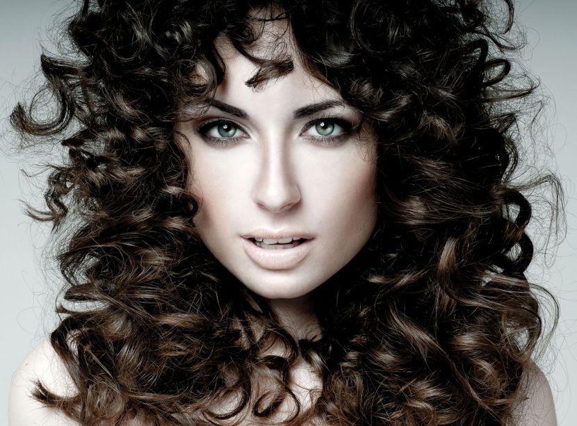 Структура кудрявых волос
