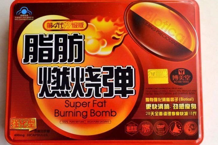 Китайские таблетки для похудения «Бомба»