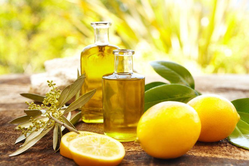 Оливковое масло и лимонный сок