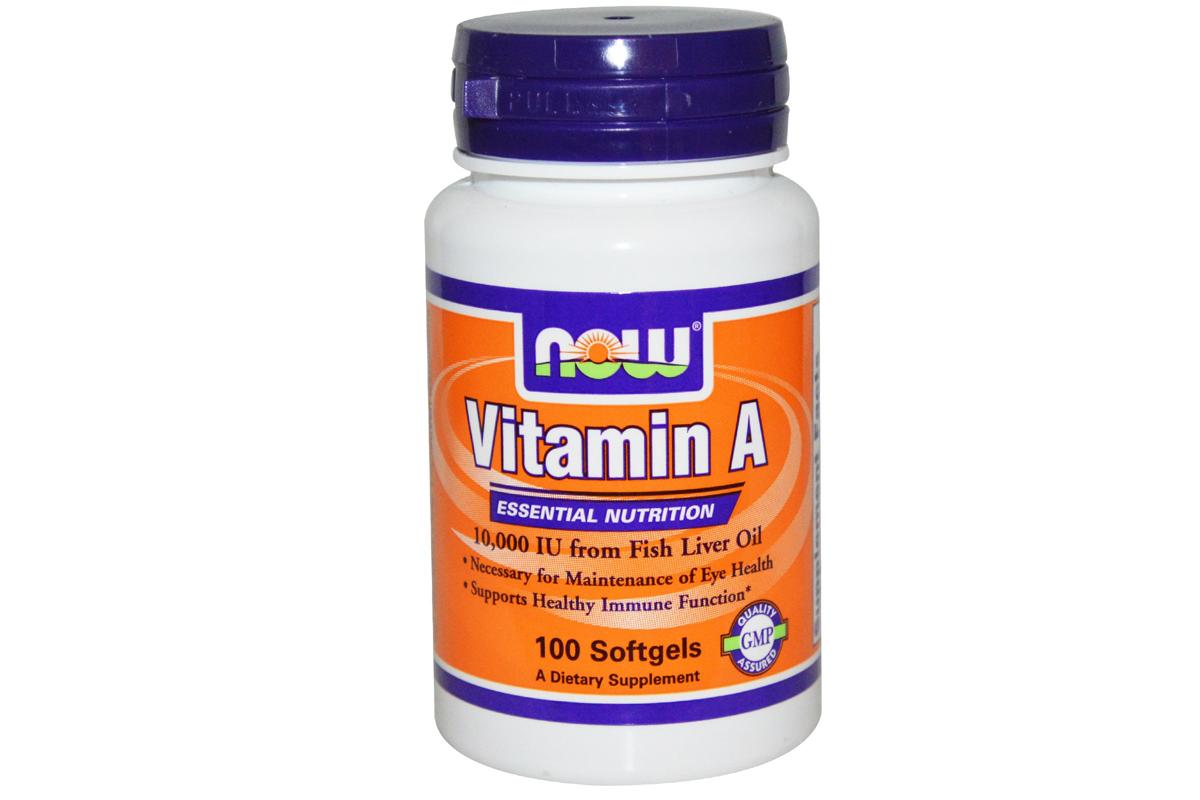 Витамин А, 10 000 МЕ в капсулах
