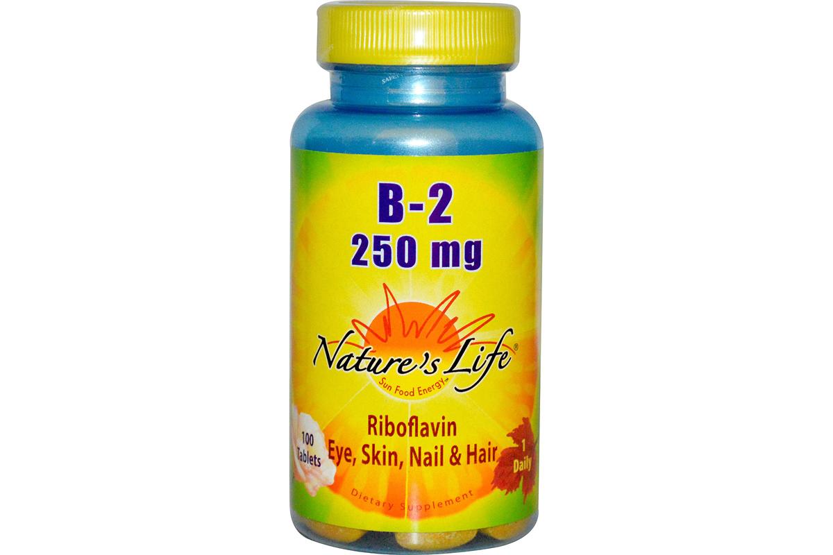 Рибофлавин B-2 в таблетках от Nature's Life