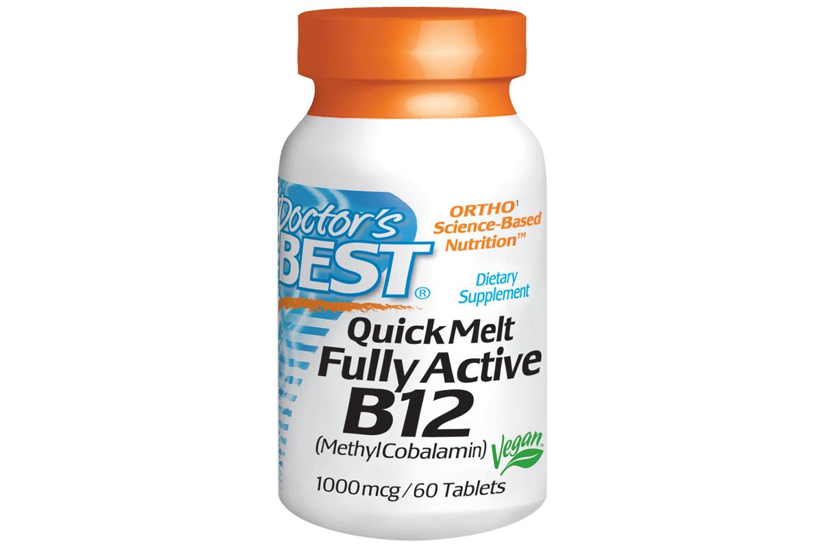Полностью активный В12, 1000 мкг в быстрорастворимых таблеток для рассасывания от Doctor's Best