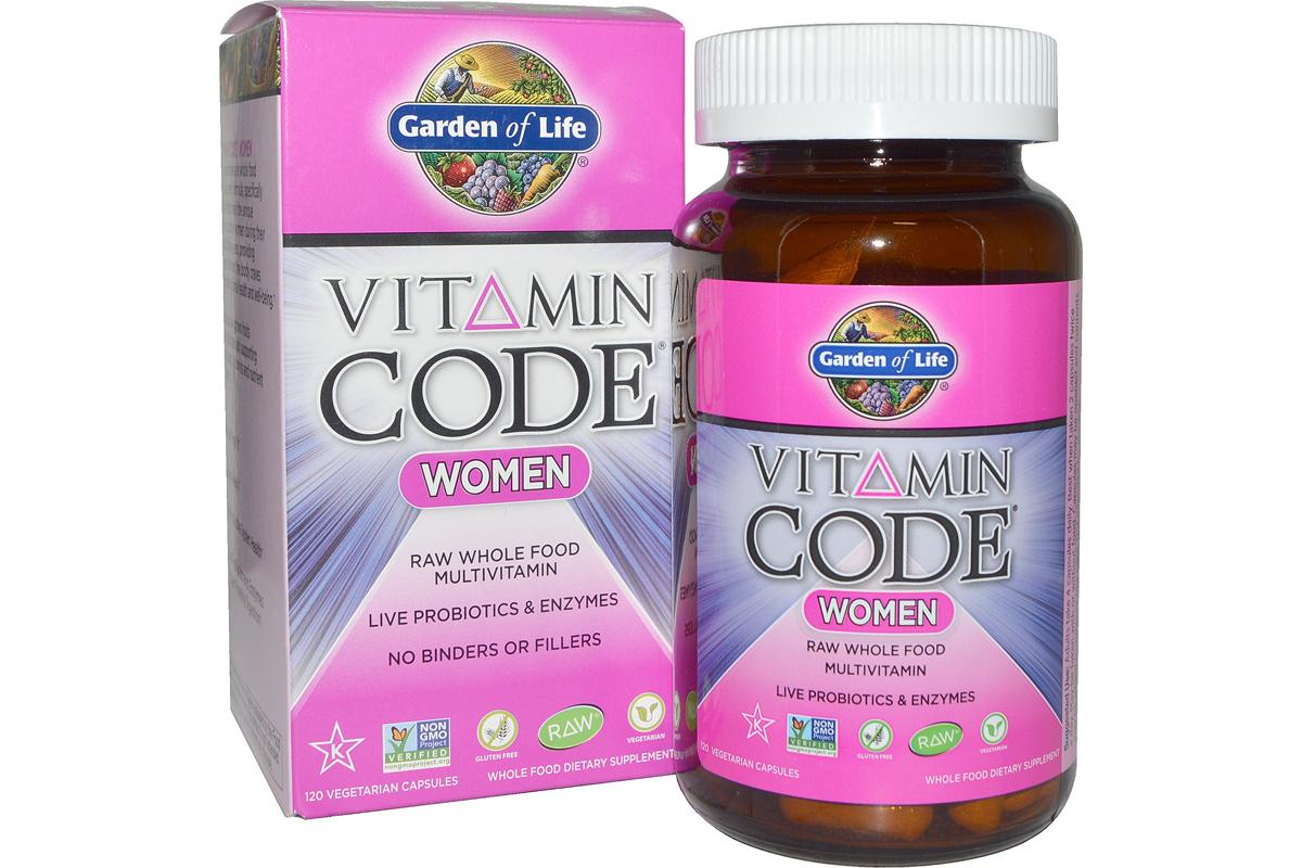 Витаминный код для женщин в вегетарианских капсулах от Garden of Life