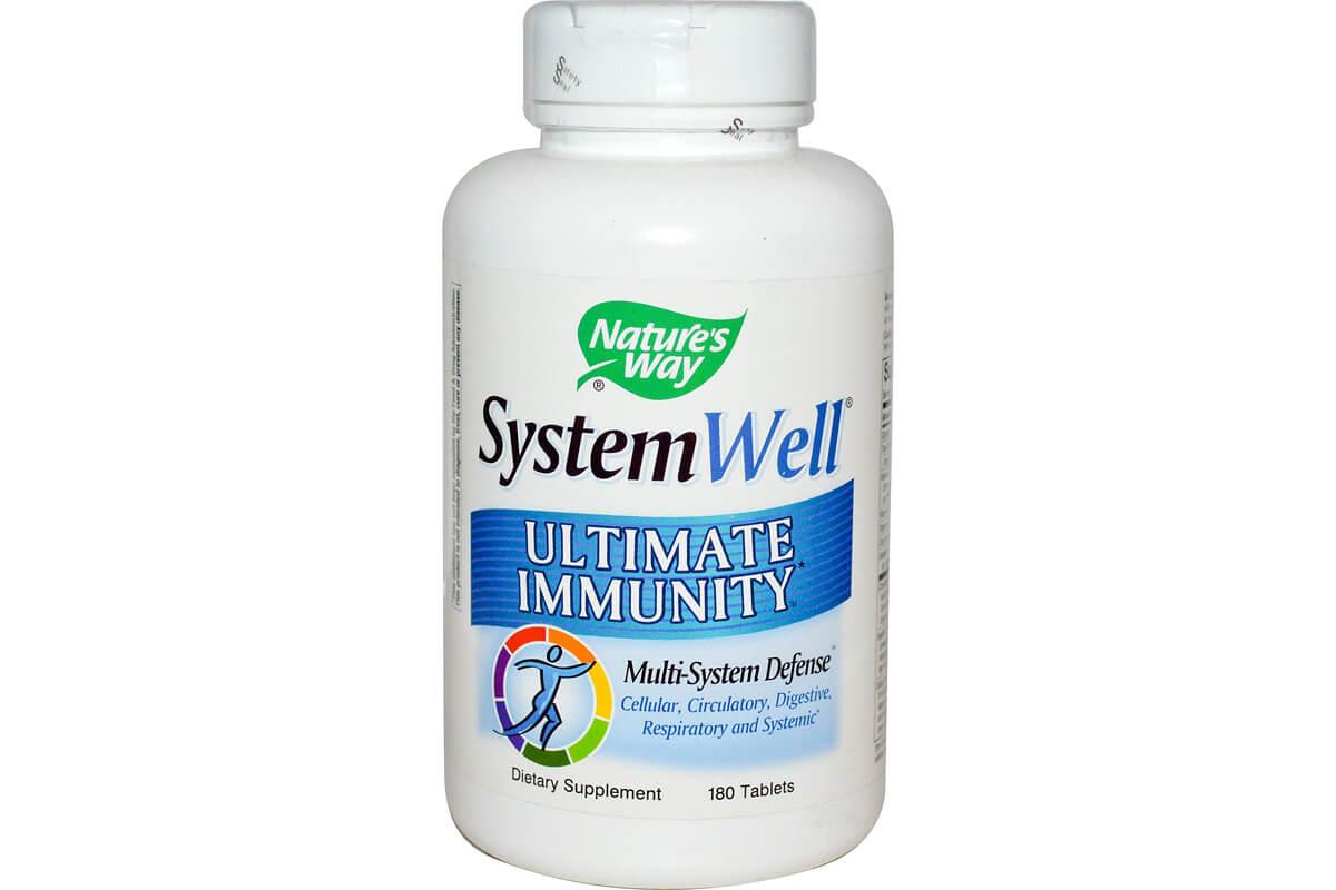 Nature's Way, System Well, Средство для укрепления иммунитета в таблетках (180 штук)