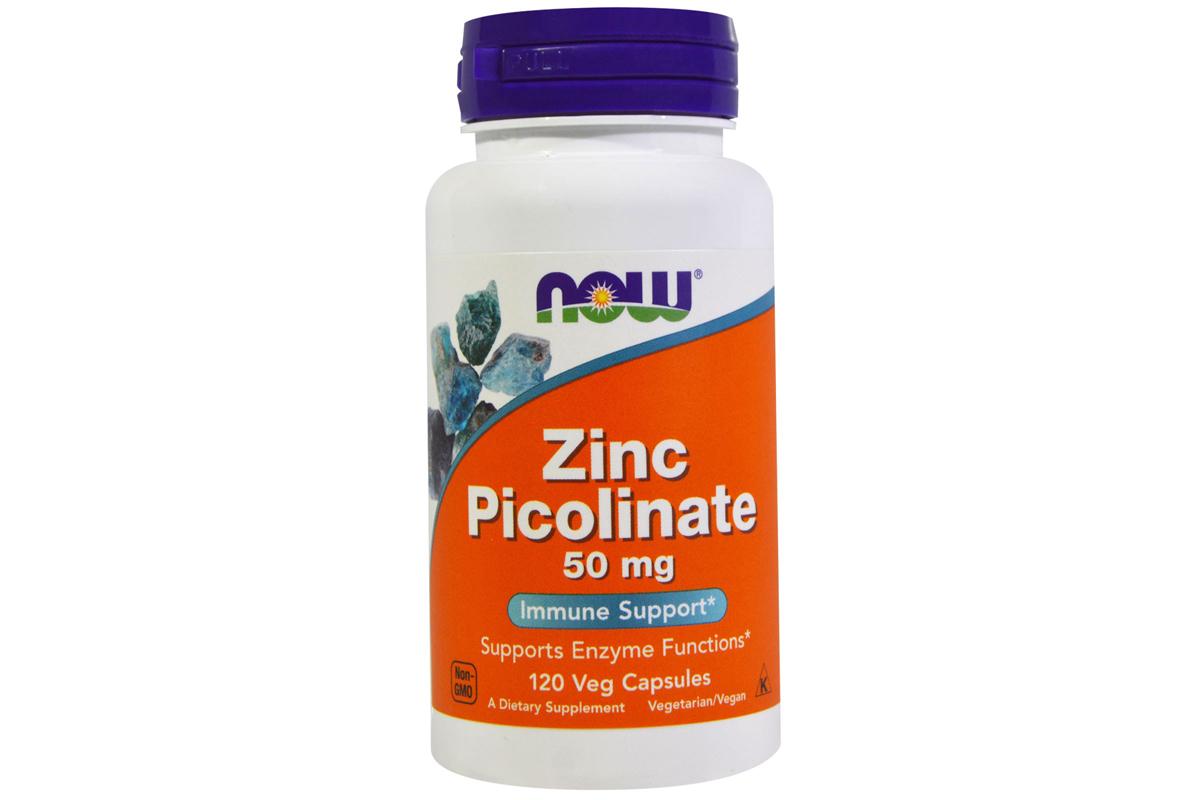 Капсулы Цинк пиколинат (Zinc Picolinate) от Now Foods (120 штук)