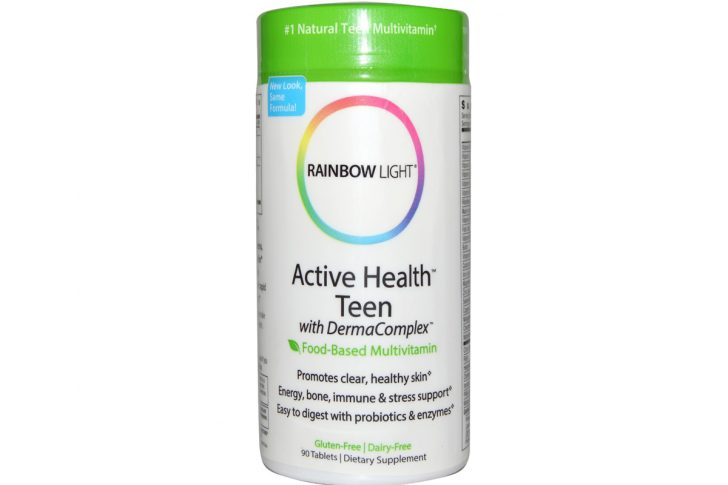 Мультивитамины для подростков: активность, здоровье и чистая кожа в таблетках от Rainbow Light (90 штук)
