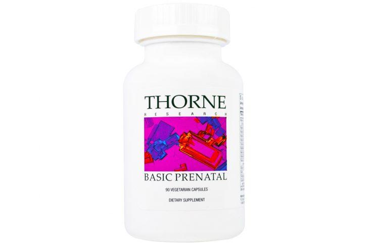 Капсулы растительного происхождения Basic Prenatal от Thorne Research (90 штук)