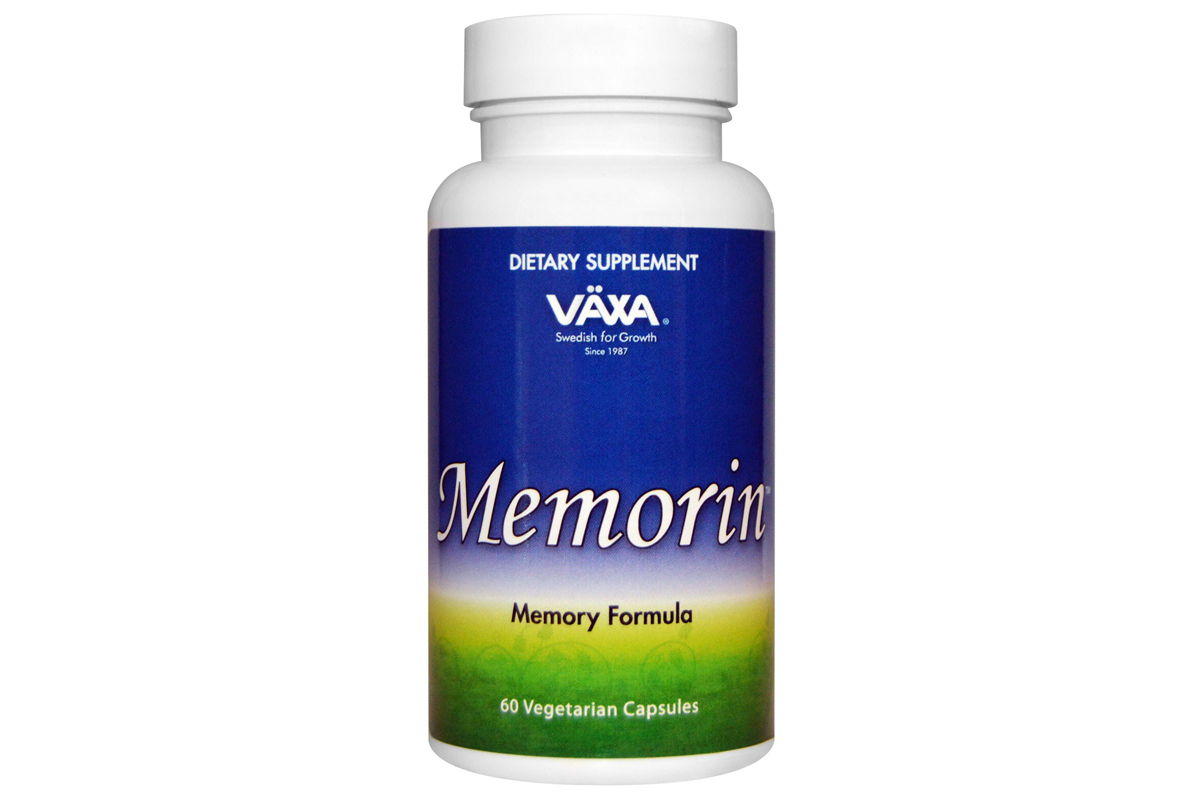 Комплекс витаминов для памяти Memorin в овощных капсулах от Vaxa International (60 штук)
