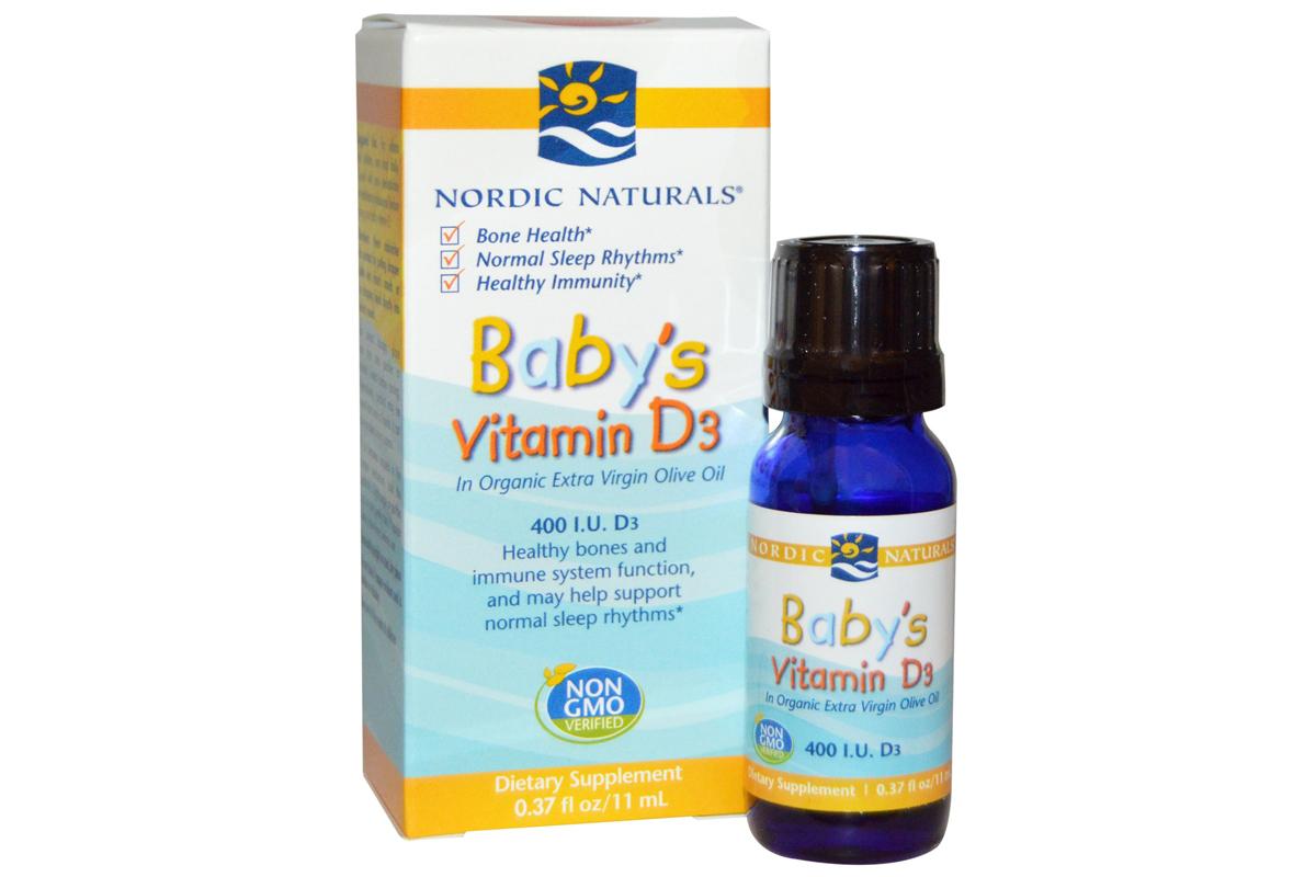Витамин D3 для детей, 400 МЕ, 0,11 мл от Nordic Naturals