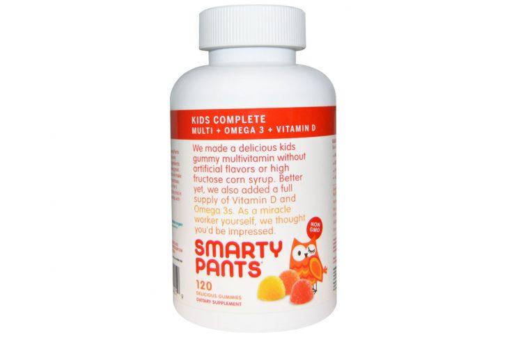 Комплекс для детей, мультивитамины + омега 3 + витамин D, 120 вкусных жевательных таблеток от SmartyPants