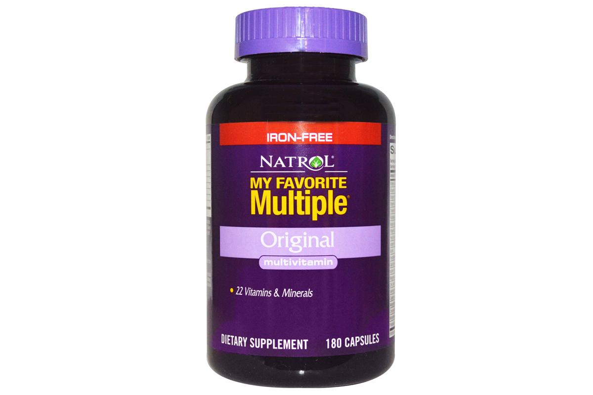 Комплекс Мои любимые мультивитамины, Оригинальные мультивитамины без железа от Natrol