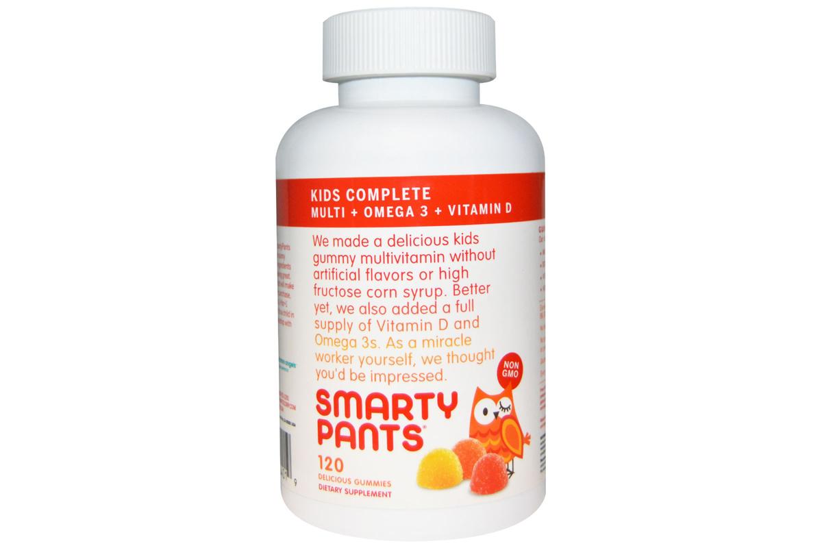 Комплекс для детей, мультивитамины + омега 3 + витамин D от SmartyPants