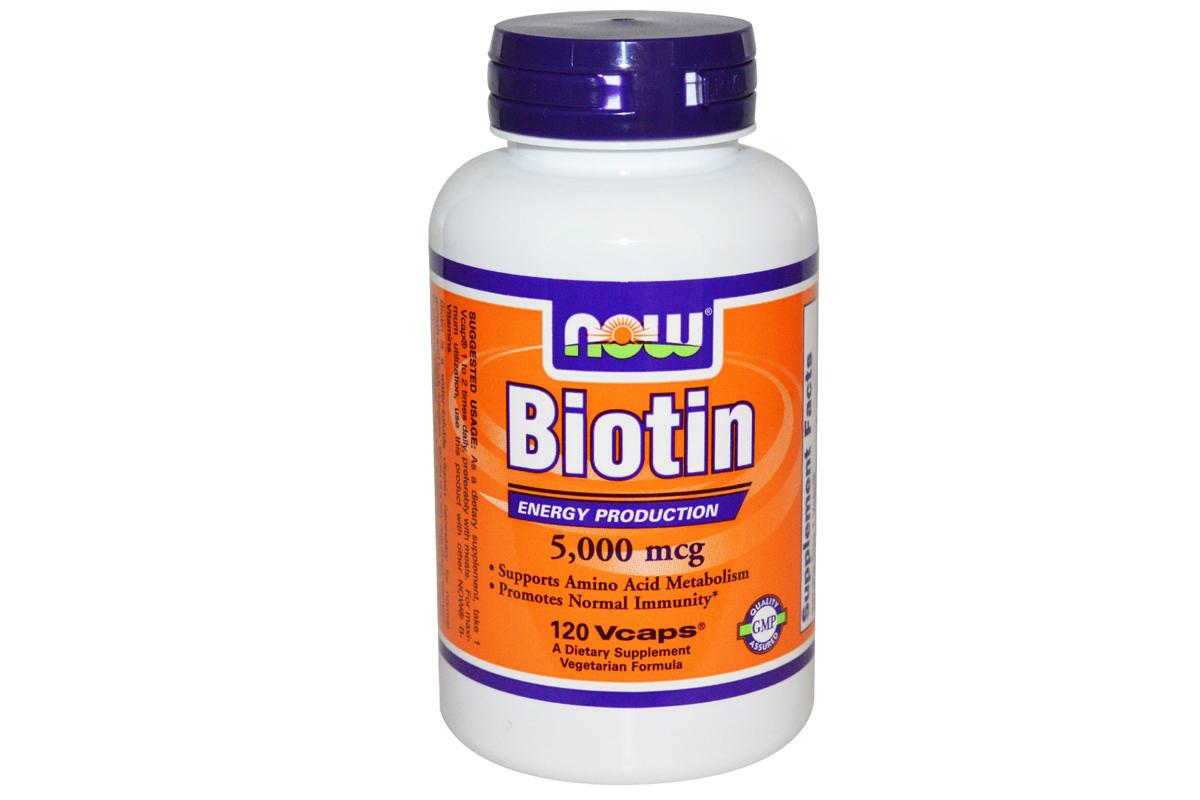 Биотин (Biotin) 5 000 мг, от Now Foods