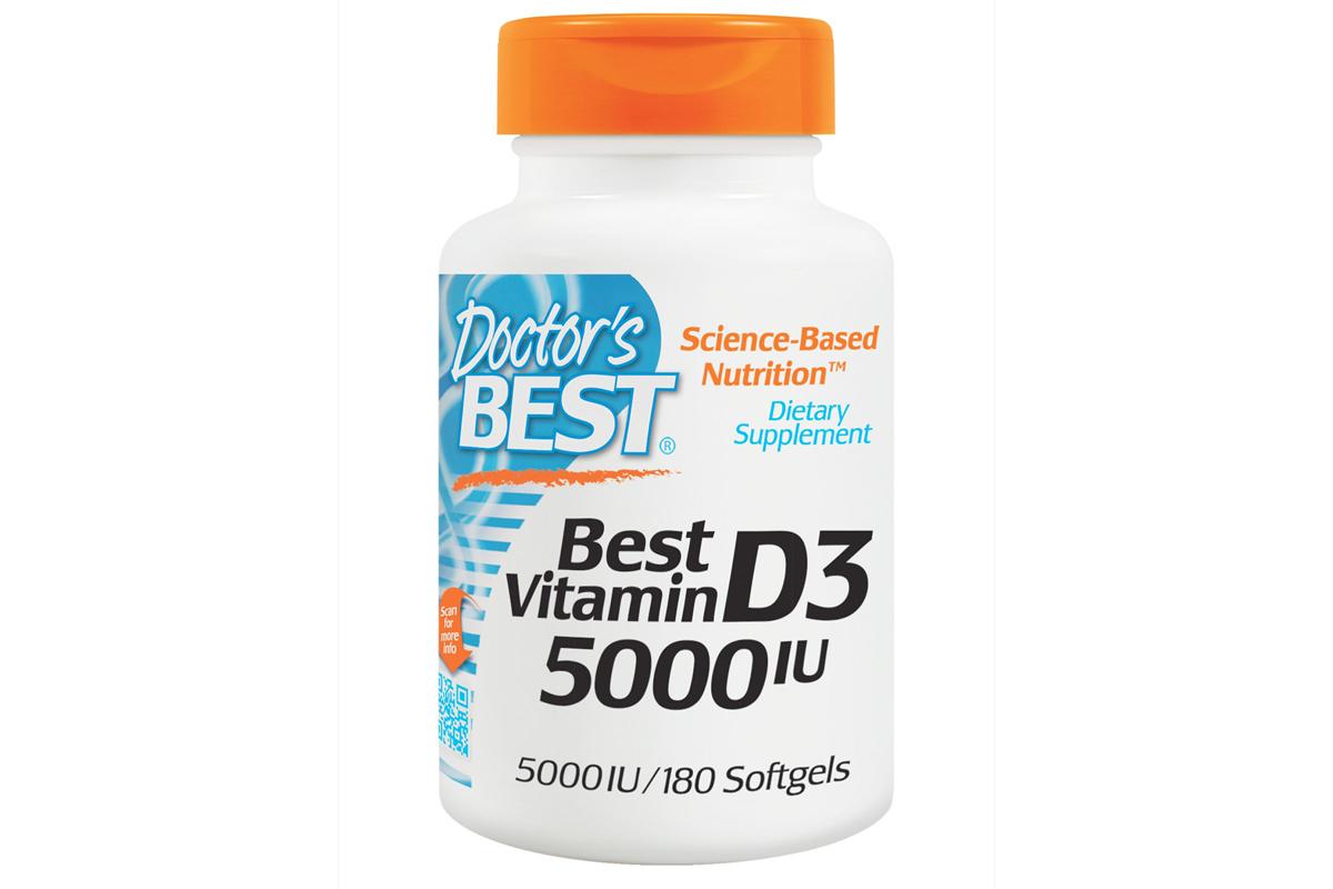 Лучший витамин D3, 5000 UI в мягких капсулах от Doctor's Best