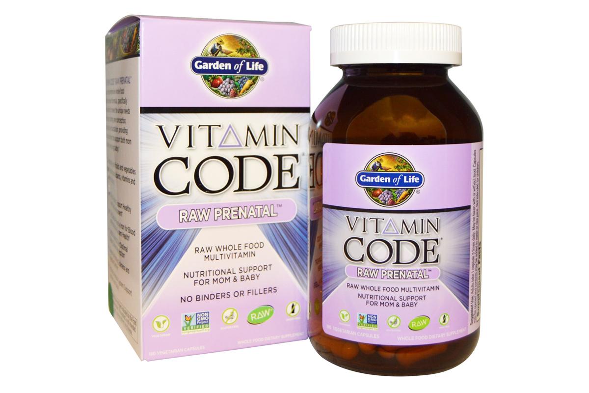 Витаминный код, сырые витамины для беременных в вегетарианских капсулах от Garden of Life
