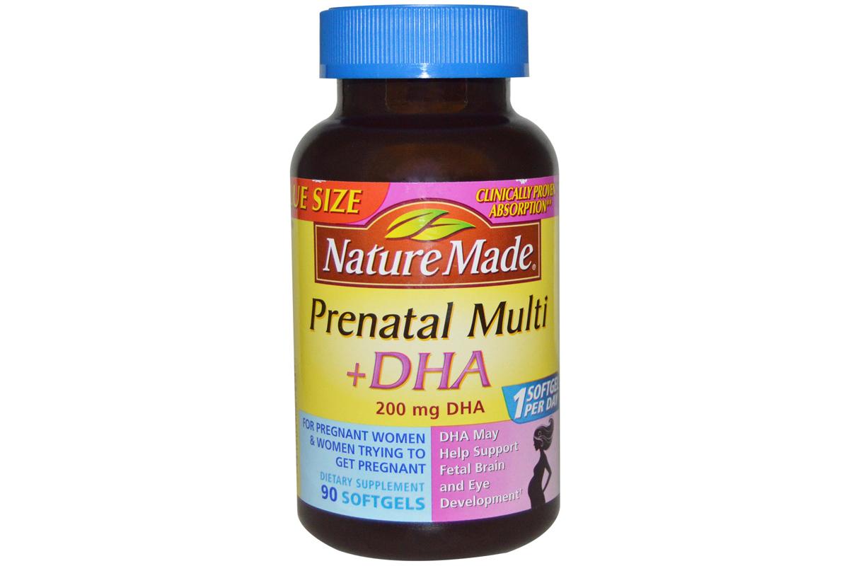 Пренатальные мультивитамины + ДГК в гелевых капсул от Nature Made