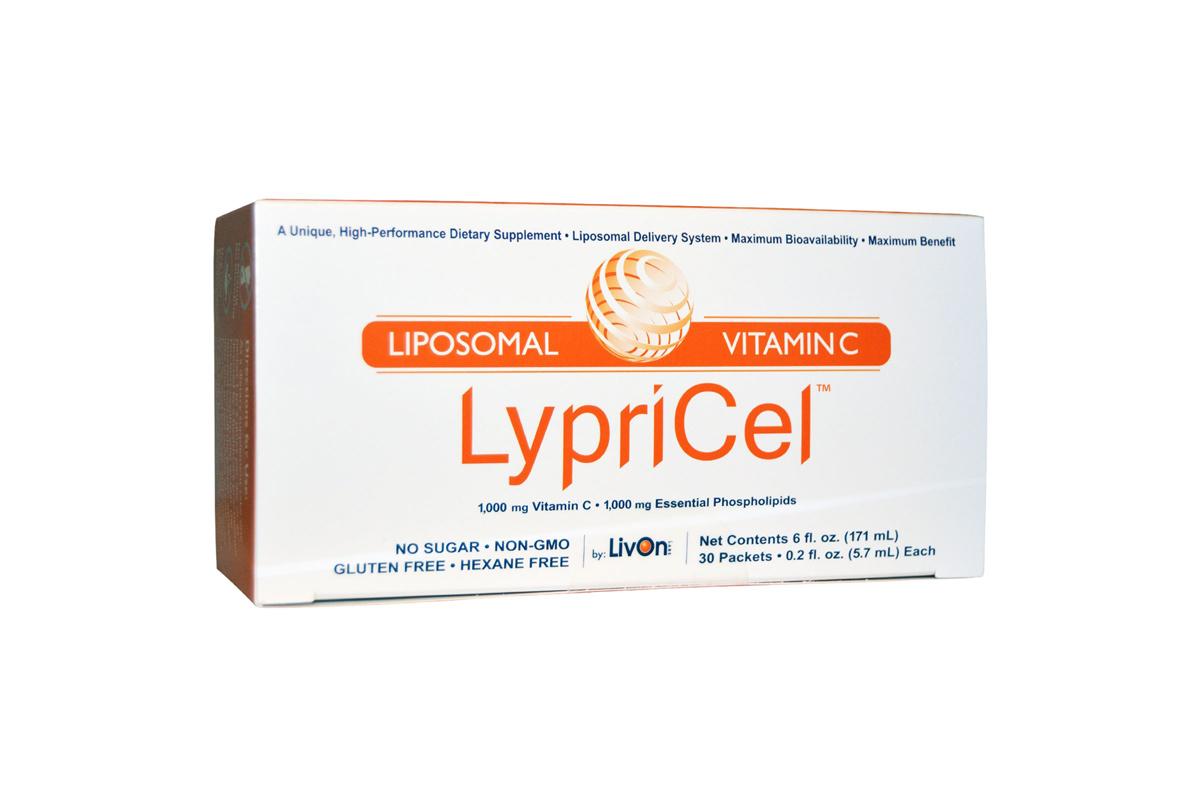Липосомальный витамин С, 30 пакетиков, 0,2 жидких унций (5,4 мл) от LypriCel