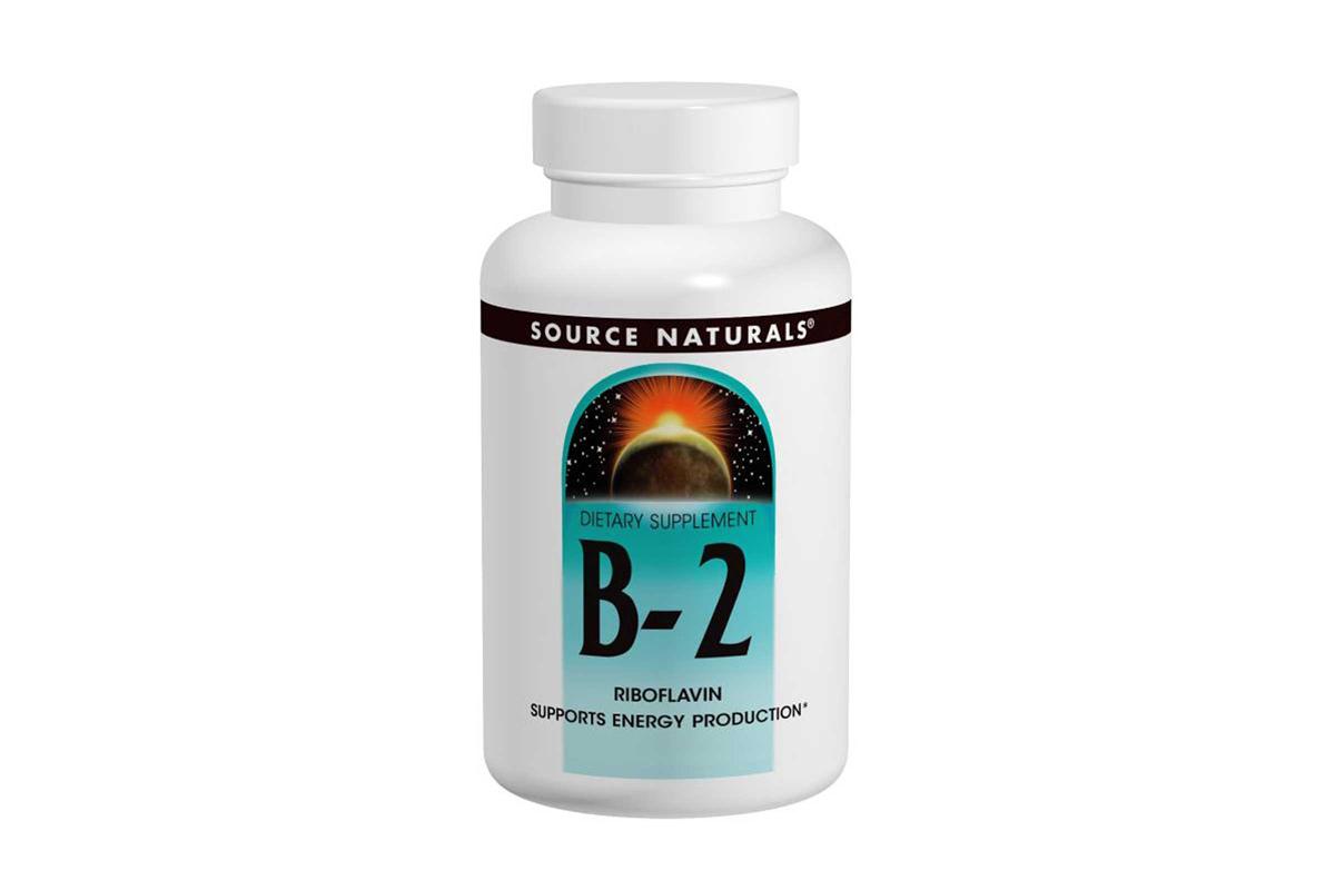 Витамин B2, 100 мг в таблетках от Source Naturals