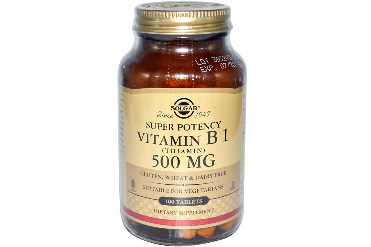 Витамин B1 (тиамин), 500 мг в таблетках от Solgar