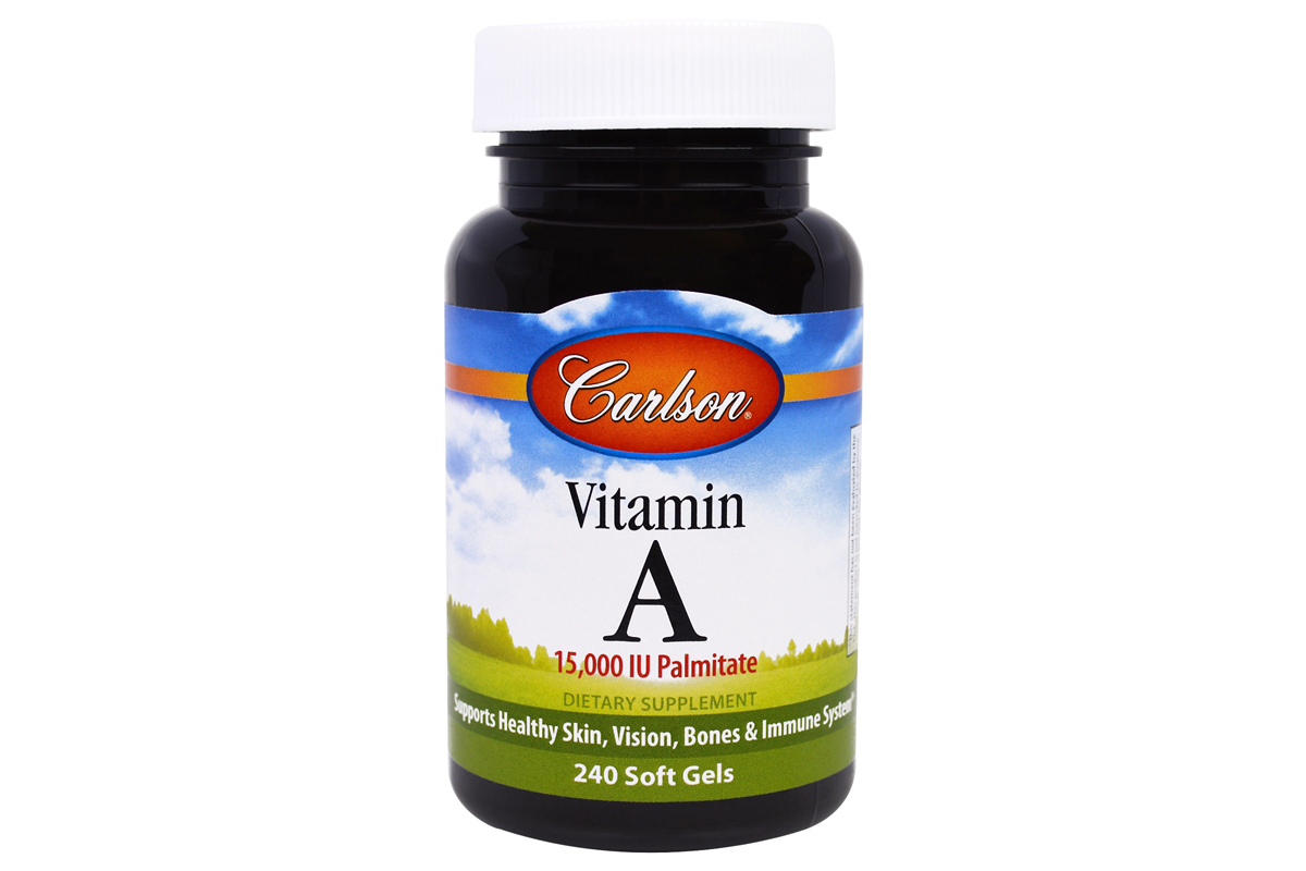 Витамин A, 15,000 МЕ, в гелевых капсулах от Carlson Labs