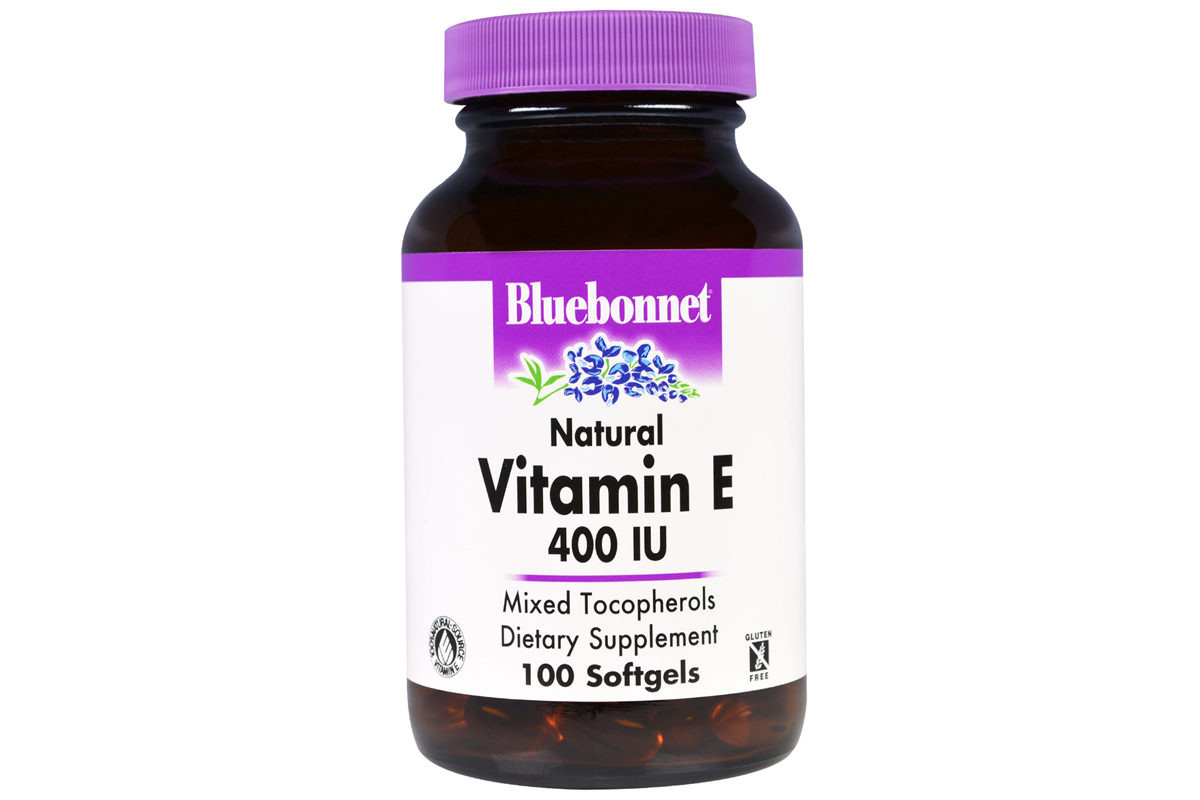 Натуральный витамин Е, 400 МЕ в капсулах от Bluebonnet Nutrition