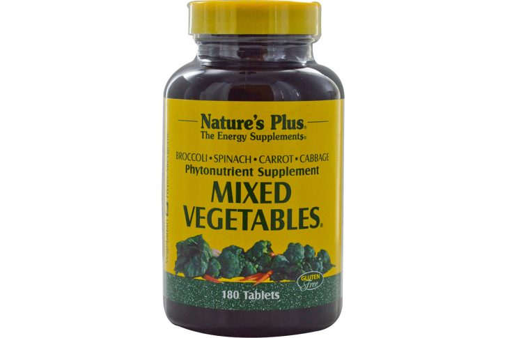Смесь овощей в таблетках от Nature's Plus (180 штук)