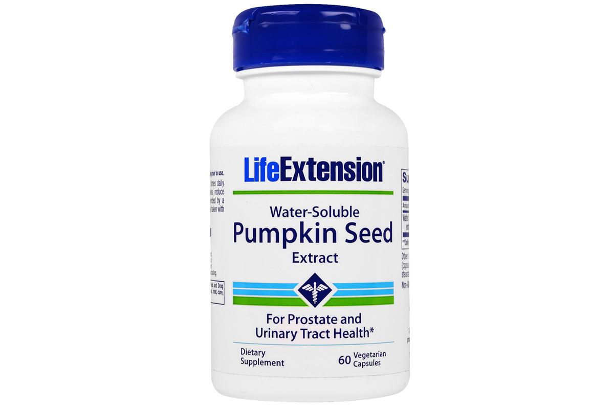 Комплекс Water-Soluble Pumpkin Seed Extract в вегетарианских капсулах от Life Extension (60 штук)