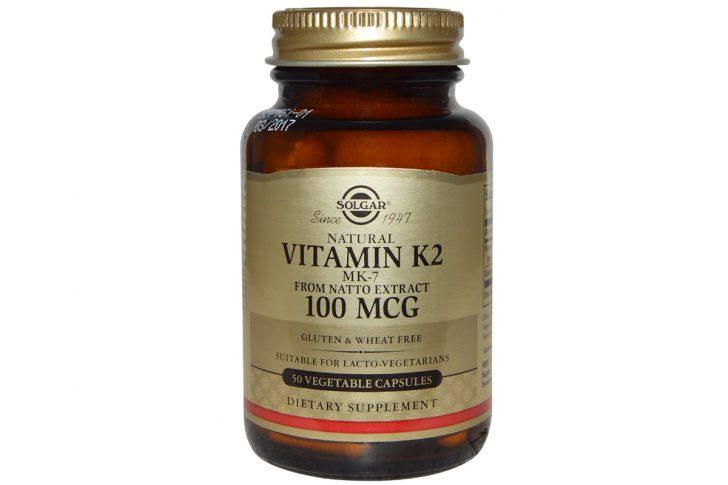 Натуральный витамин K2, 100 мкг, в вегетарианских капсулах от Solgar