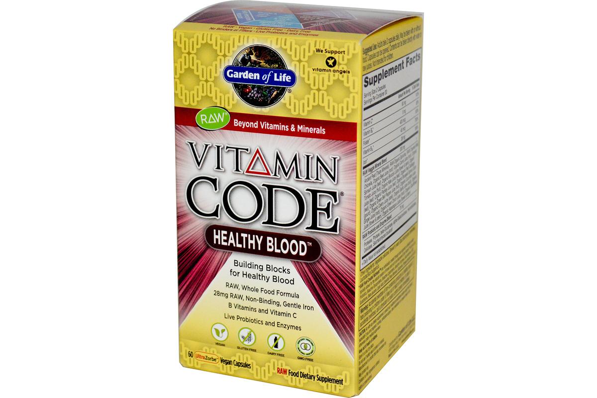 Комплекс для здоровья крови Vitamin Code в растительных капсулах от Garden of Life (60 штук).