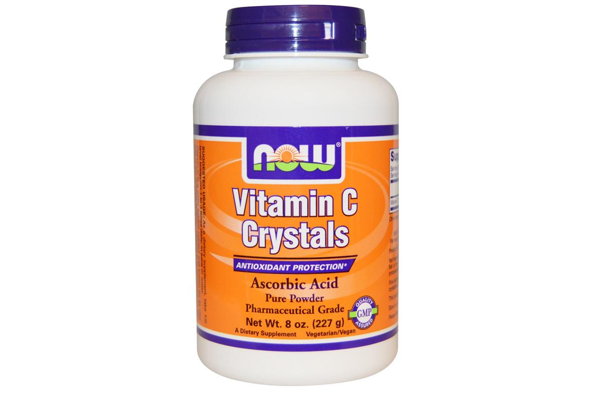 Витамин C в кристаллах, 8 унций (227 г) от Now Foods