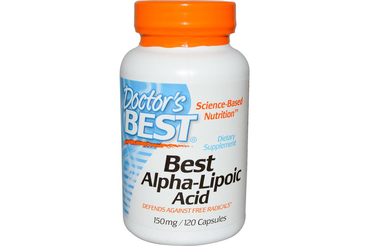 Лучшая альфа-липоевая кислота, 150 мг в капсулах от Doctor's Best