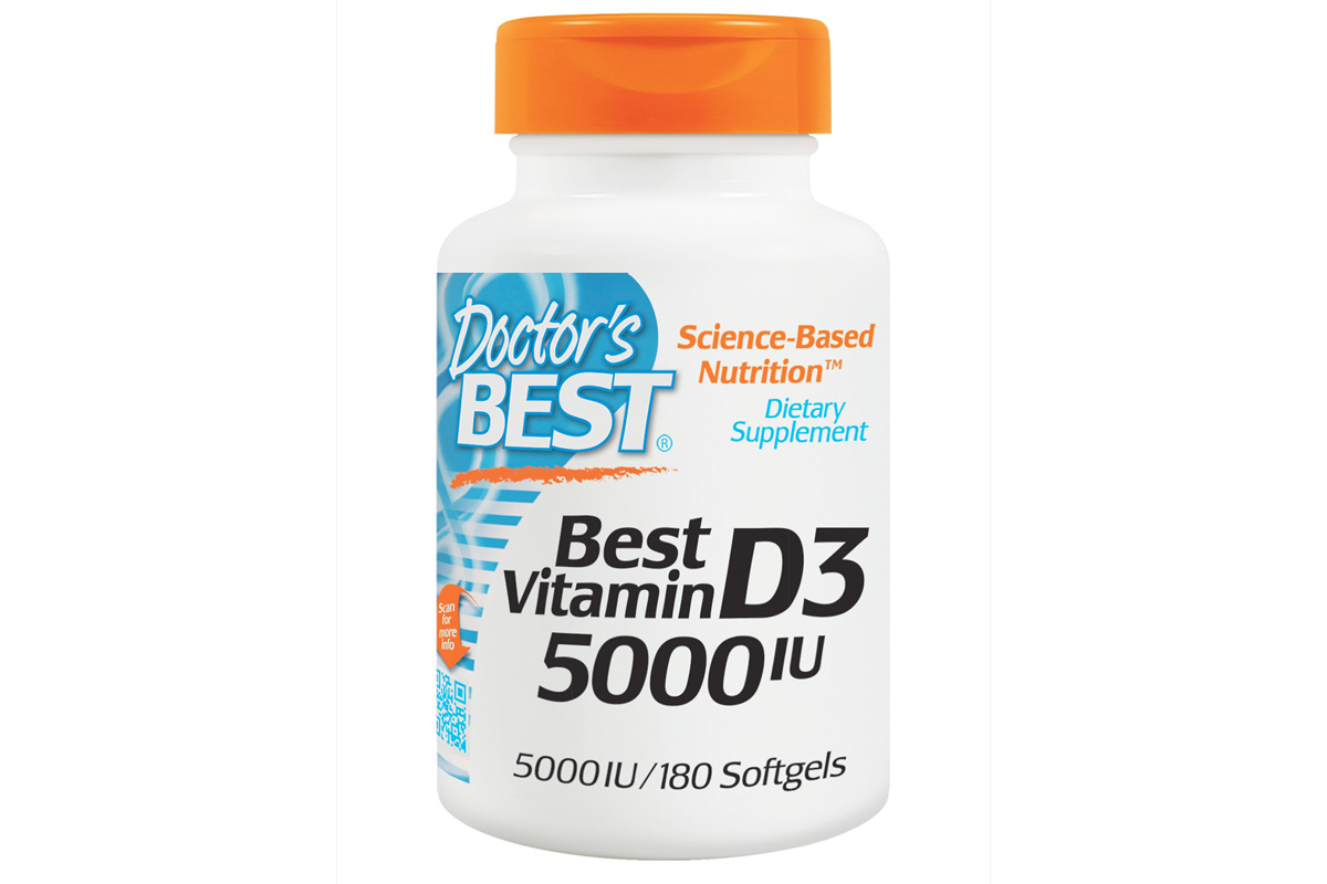 Лучший витамин D3, 5000 международных единиц в мягких капсулах от Doctor's Best