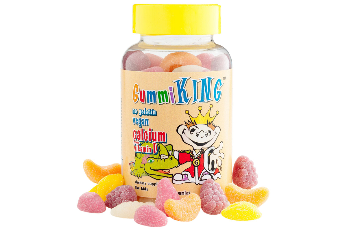 Кальций с витамином D для детей в жевательных конфетах от Gummi King
