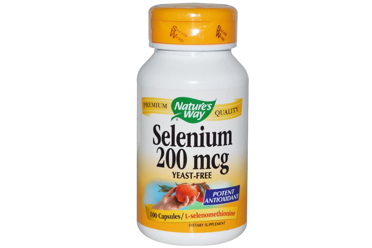 Селен, 200 мкг в капсулах от Nature's Way