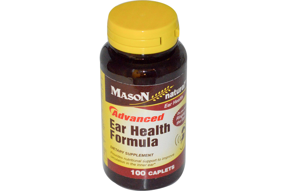 Улучшенная добавка для здоровья ушей и слуха в таблетках от Mason Vitamins