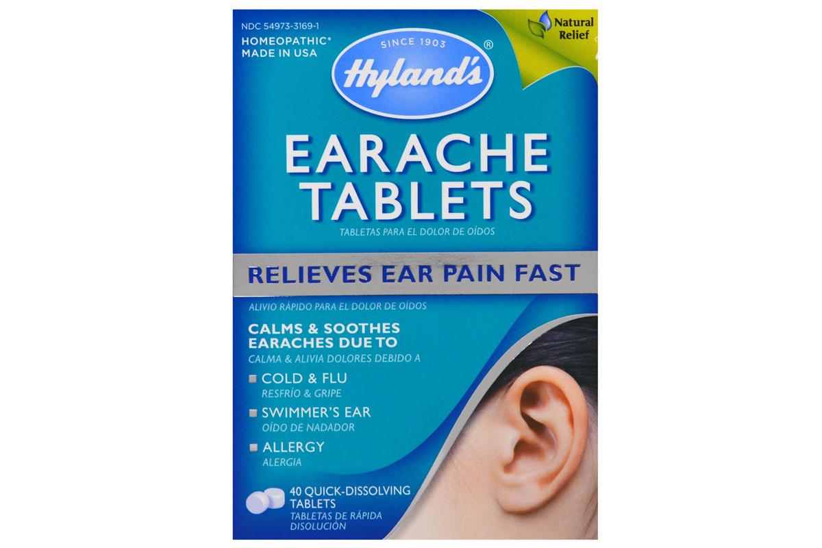 Быстрорастворимые таблетки от Hyland's, От боли в ушах (40 штук)