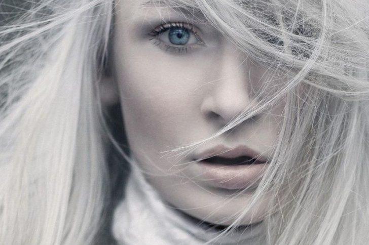 Осветление седых волос блондораном