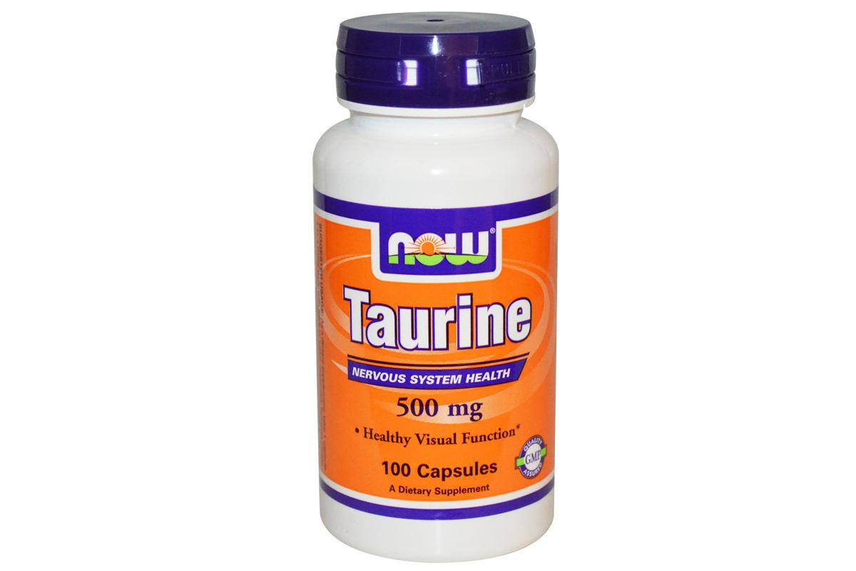 Таурин, 500 мг в капсулах от Now Foods