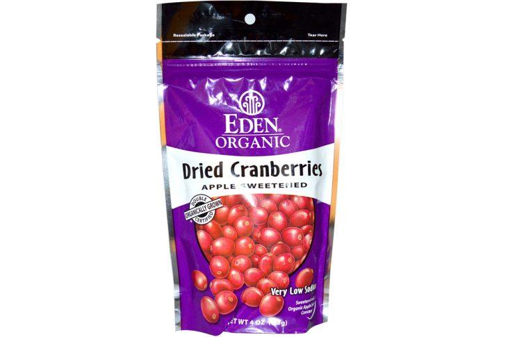 Органические сушеные ягоды клюквы от Eden Foods
